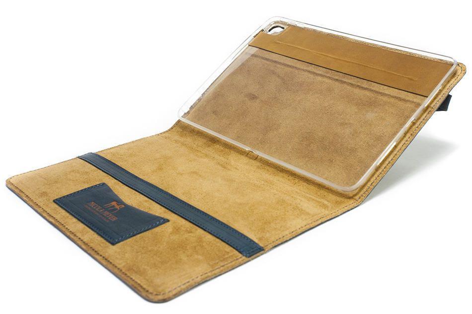 iPad Pro 9,7 Leather Cover Portfolio Petroleum, Open