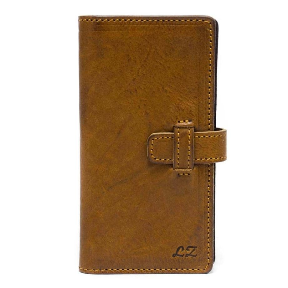 iPhone 7 Plus Leather Flip Book Wallet Case, Close