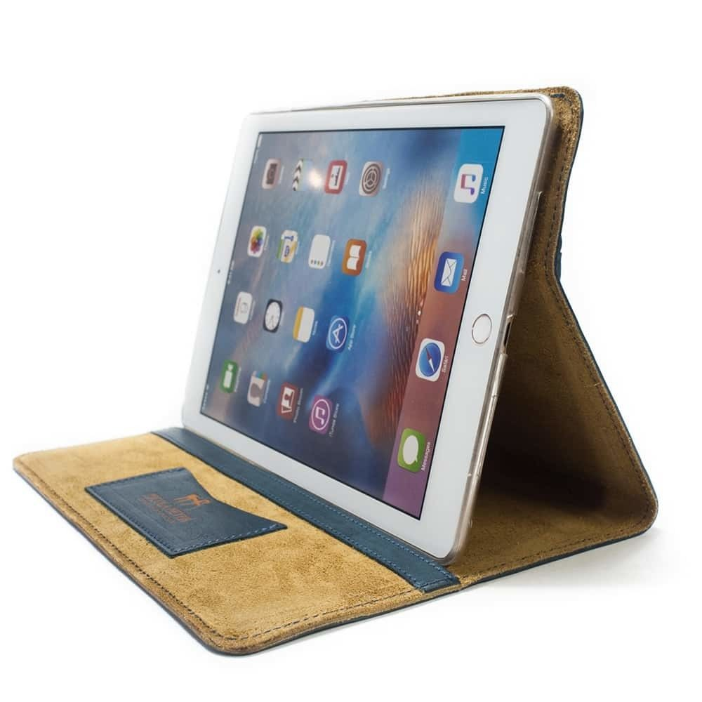 iPad Pro 9,7 Leather Cover Portfolio, Petroleum, by Nicola Meyer