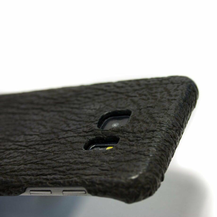 Samsung Galaxy Black Couverture en cuir, appareil photo de détail