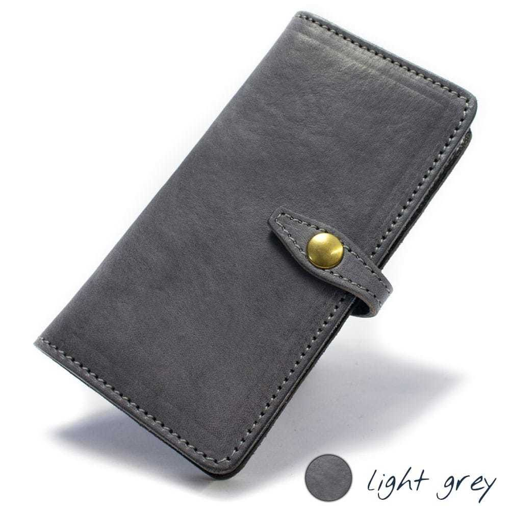 Samsung Galaxy S7 EDGE Leather Case, Light Grey, by Nicola Meyer