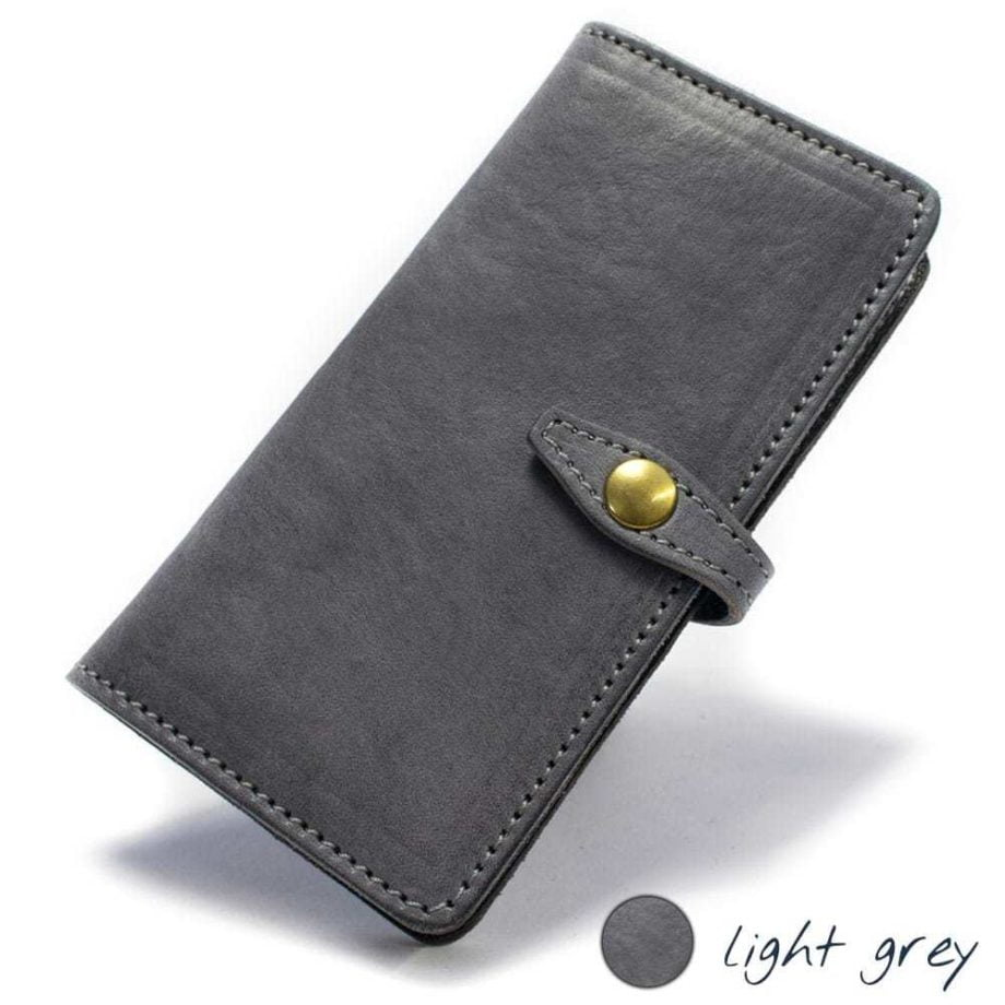 Samsung Galaxy S7 EDGE Leather Case, Light Grey, by Nicola Meyer