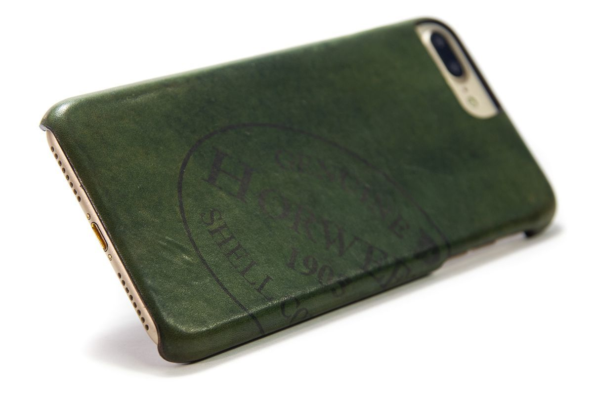 iPhone 7, 6s Plus, Leather Split Cordovan Case, Green, by Nicola Meyer