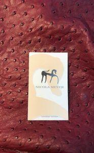 Burgundy Ostrich Nicola Meyer
