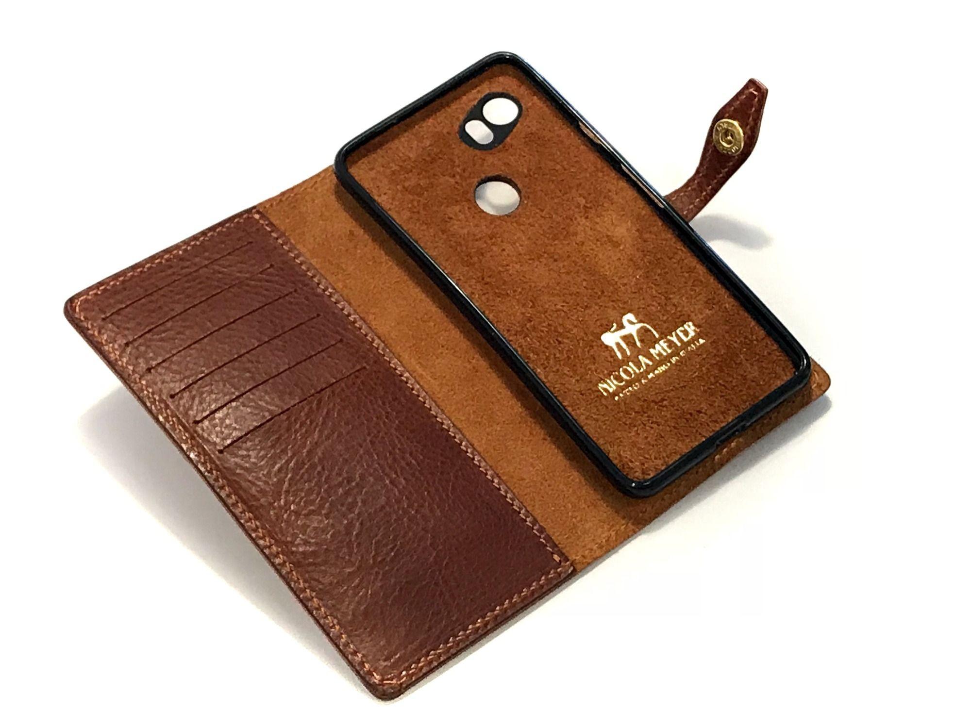 Google Pixel Leather Flip Book Bifold Case Nicola Meyer Color 303 2