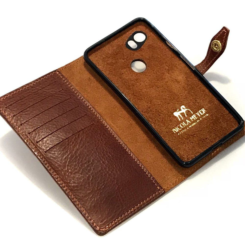 Google Pixel Leather Flip Book Bifold Case Nicola Meyer Color 303 2 Sq