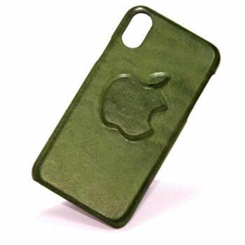 Iphone X Apple Logo Leather Case Nicola Meyer Sq Resize
