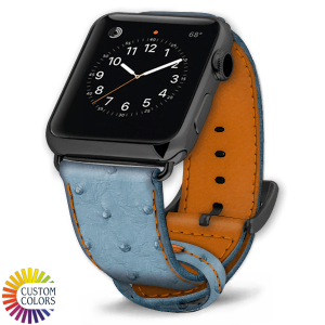 Icon 600x600 Watch Strap Ostrich Jeans Brandy