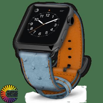 Icon 600x600 Bracelet de montre en autruche Jeans Brandy