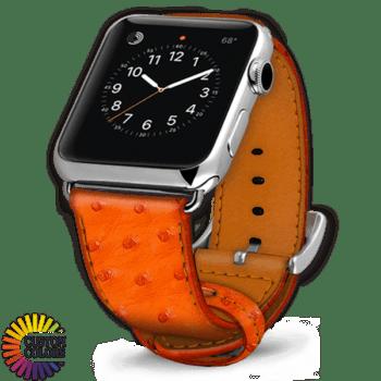 Icon 600x600 Bracelet de montre en autruche Tangerine
