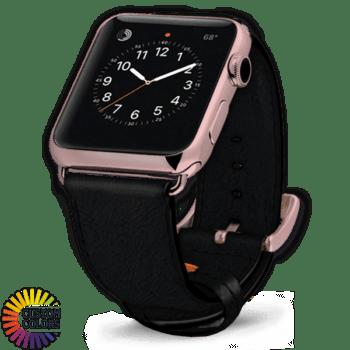 Watch Strap Black Pebble Custom Colors