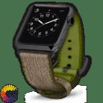 600x600 Crème sur mesure pour bracelet en cuir Apple Shark avec couleurs sur mesure Green
