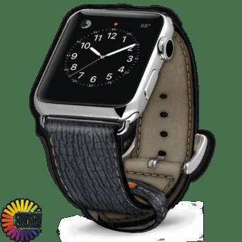 600x600 Couleurs personnalisées Bracelet en cuir Apple Shark Gris