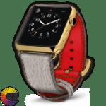600x600 Couleurs personnalisées Cuir Requin Bracelet de montre Apple brut Red